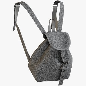 3D realistic women s backpack