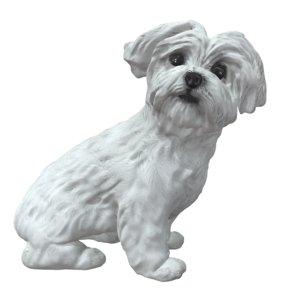 3D cute white model
