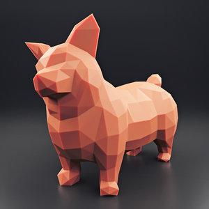 welsh corgi 1 3D model