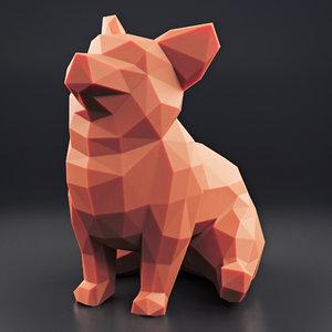 welsh corgi 2 3D model