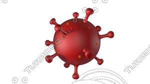 coronavirus covid 3D model