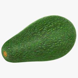 3D realistic avocado