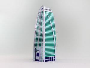 dubai arch tower 3D