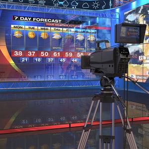 3D studio tv weather
