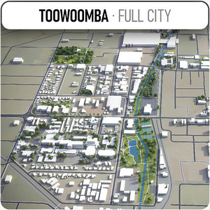 3D toowoomba surrounding - model