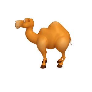 3D camel cartoon