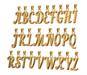 3D alphabet pendants model