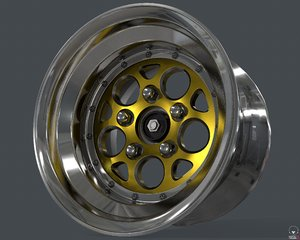 magnum rim weld racing 3D model