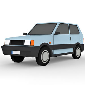 cartoon hatchback car model