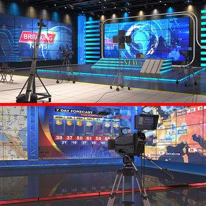 3D tv studios 2 model