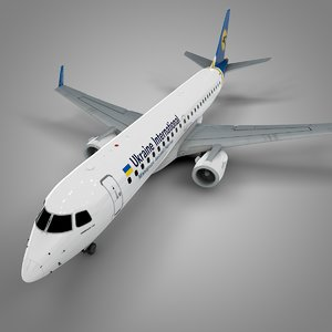 3D ukraine international airlines embraer190
