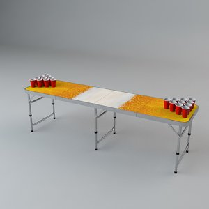 beer pong table 3D model