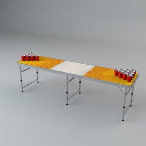 beer pong table 3D model