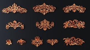 3D molding cartouche decor
