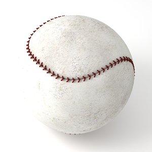 baseball modeled 3D