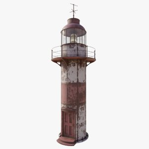 3D model old lighthouse
