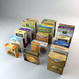 3D boxed organic food cookies