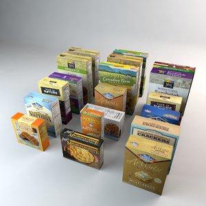 3D boxed organic food cookies