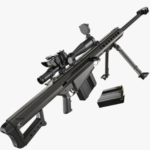 3D sniper rifle barrett m82