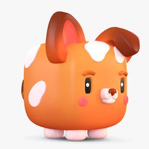 cute cartoon dog 3D