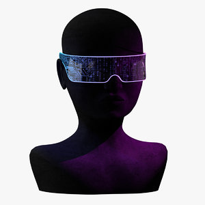 cyberpunk glasses 3D