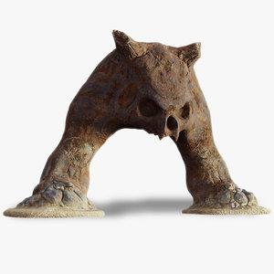 3D rock desert arch model