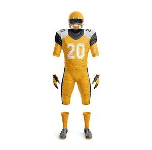 3D american football uniform model