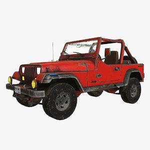 3D jeep wrangler pbr model