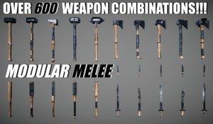 games weapon modular 3D