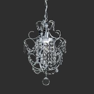 amorette 1-light chrome glam 3D model