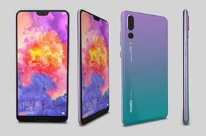 3D huawei p20 pro phone