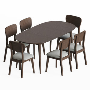 3D dining set 12 chair