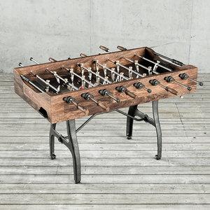 3D vintage foosball table model
