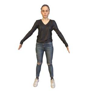 beautiful t pose 3D model