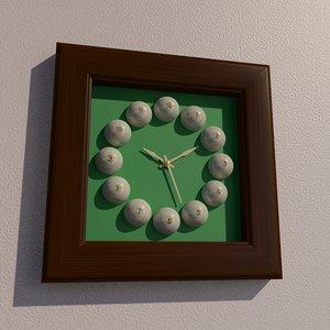 3D square billiard wall clock
