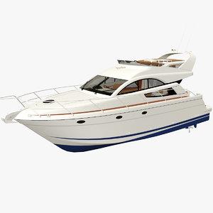 3D yacht boat pbr model