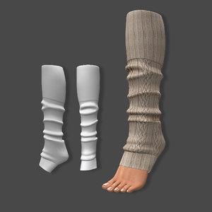 leg warmers warm 3D model