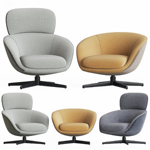3D minotti russell lounge armchair