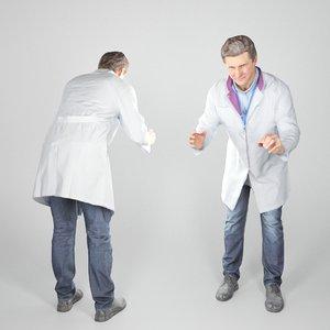 man uniform medical doctor model