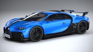3D bugatti chiron 2021 model