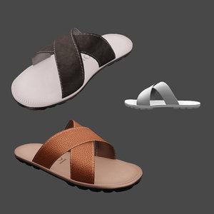 3D sandals male model