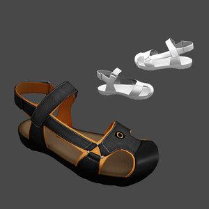 3D sandals male