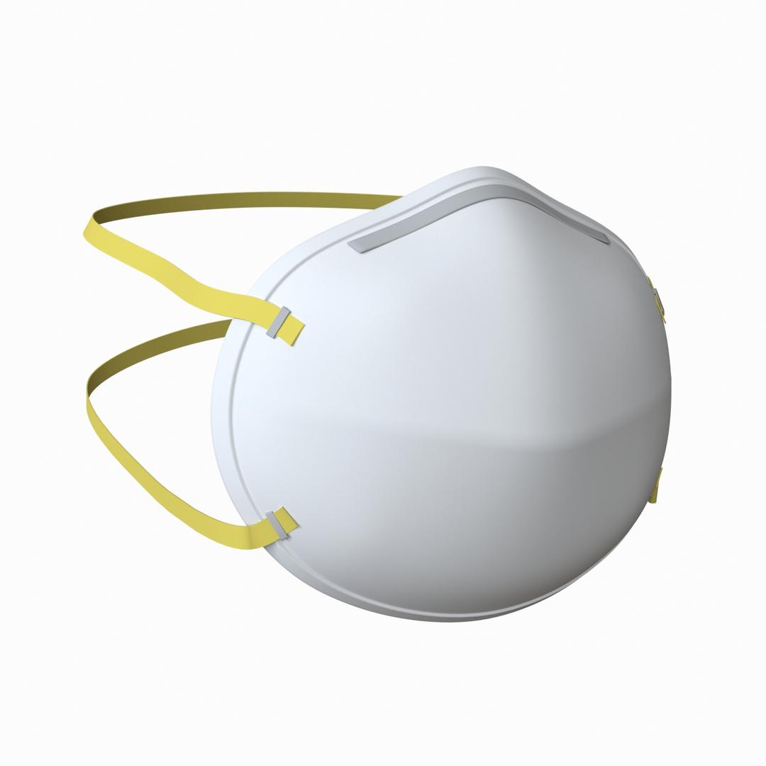 n95 mask coronavirus 3D model