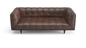 old leather sofa 3D model
