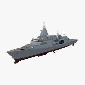 type 26 frigate canadian 3D model