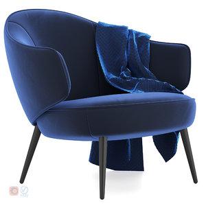 boconcept charlotte chair 3D