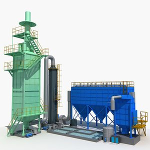 3D industrial equipment 3 model