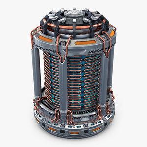 3D reactor gen sci fi