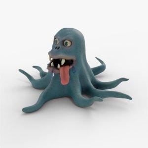 3D model virus monster