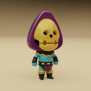 3D character skeleton